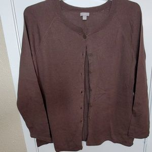 Dark Brown Cardigan Sweater